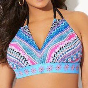 Swimsuits For All NWT Avenger Halter Bikini Top